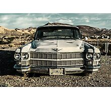 abandoned car near death valley Photographic Print