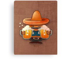 Drinking beer illustration Canvas Print