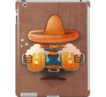 Drinking beer illustration iPad Case/Skin