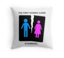 Divorce Throw Pillow