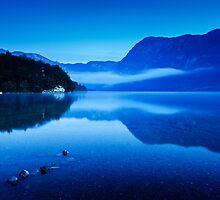 Dawn at Lake Bohinj in Slovenia by Ian Middleton