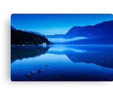 Dawn at Lake Bohinj in Slovenia Canvas Print