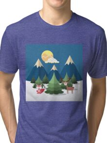 Pines and Mountains Tri-blend T-Shirt