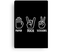 Paper Rock Scissors Canvas Print