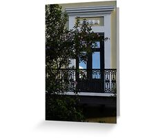 Elegant Tropical Balcony - the Beautiful Colonial Architecture of Old San Juan, Puerto Rico Greeting Card