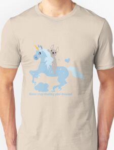 French Bulldog riding a Unicorn! UNIQUE Unisex T-Shirt