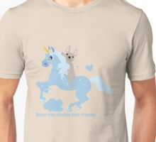 French Bulldog riding a Unicorn! UNIQUE Unisex T-Shirt