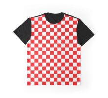 Croatia Checkerboard Graphic T-Shirt