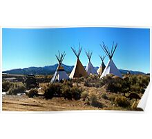 Taos Teepees Poster