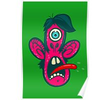 Frightened Cyclops Poster