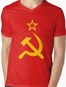 Hammer and Sickle Mens V-Neck T-Shirt