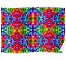 Psychedelic Abstract colourful work 30(Tile) Poster