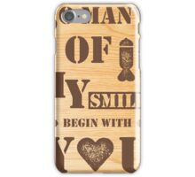 smiles wood iPhone Case/Skin