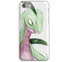 Portrait of a Grovyle V1b iPhone Case/Skin