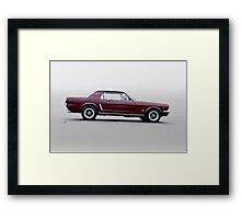 1965 Ford Mustang Coupe 'Pony in Profile' Framed Print