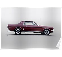 1965 Ford Mustang Coupe 'Pony in Profile' Poster