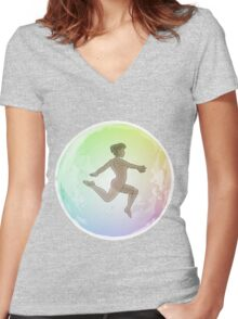 Leave your Bubble (African) Women's Fitted V-Neck T-Shirt