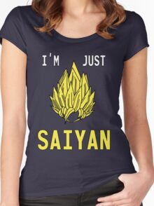 I'm just saiyan Women's Fitted Scoop T-Shirt