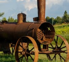 Antique And Rusty - a Vintage Iron Tractor on a Farm Sticker