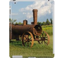 Antique And Rusty - a Vintage Iron Tractor on a Farm iPad Case/Skin