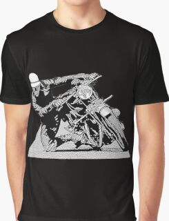 1940s Vintage Motorcycle Racer Graphic Graphic T-Shirt