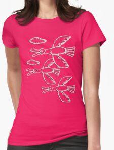 Wild Geese - Muscovy ducks, birds, nature, flora, vegan, vegetarian, not hunters, hunting ban Womens Fitted T-Shirt