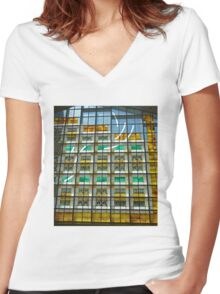 Rice and Wheat, Community of Christ Temple Women's Fitted V-Neck T-Shirt