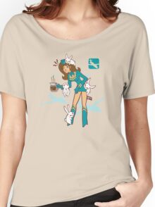 Köpke Chara Collection - Coffee Flight Attendant Women's Relaxed Fit T-Shirt