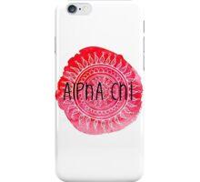Alpha Chi Red Mandala iPhone Case/Skin