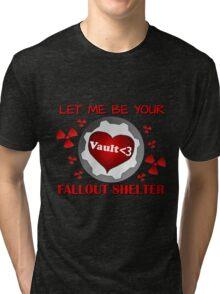 Gamer Valentine - Romantic Nuclear Fallout Shelter Geek Nerd Gamer Tri-blend T-Shirt