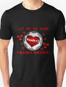 Gamer Valentine - Romantic Nuclear Fallout Shelter Geek Nerd Gamer T-Shirt