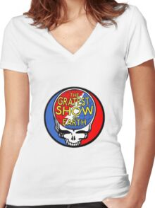 GREATEST SHOW ON EARTH! Women's Fitted V-Neck T-Shirt