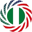 Nigerian American Multinational Patriot Flag Series by Carbon-Fibre Media