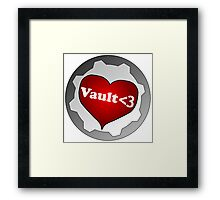 The Vault of Love - Gamer Geek Funny Nerd Framed Print