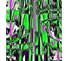 Abstract green/pink smash Photographic Print
