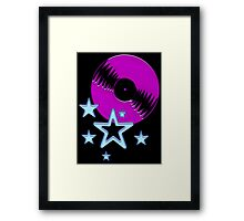 party - sky, star, music, disco, funny Framed Print