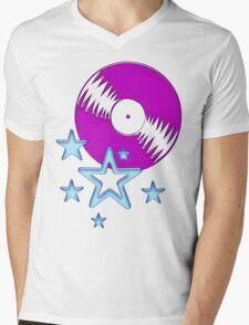 party - sky, star, music, disco, funny Mens V-Neck T-Shirt