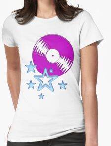 party - sky, star, music, disco, funny Womens Fitted T-Shirt