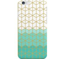 Gold Turquoise Geometric Design iPhone Case/Skin