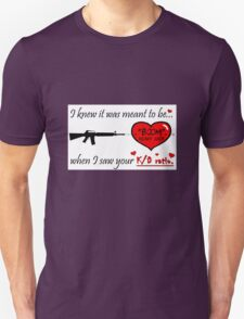 "Gamer Valentine - ""Meant to Be"" Geek Funny Nerd Headshot T-Shirt"