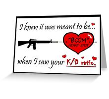 "Gamer Valentine - ""Meant to Be"" Geek Funny Nerd Headshot Greeting Card"