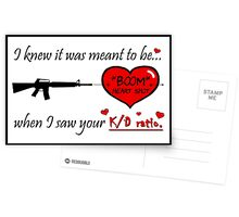 "Gamer Valentine - ""Meant to Be"" Geek Funny Nerd Headshot Postcards"