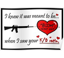 """Gamer Valentine - """"Meant to Be"""" Geek Funny Nerd Headshot Poster"""