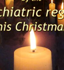 A candle for all those tortured by the psychiatric regime this Christmas Sticker
