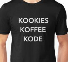 Kookies Koffee Kode  Unisex T-Shirt