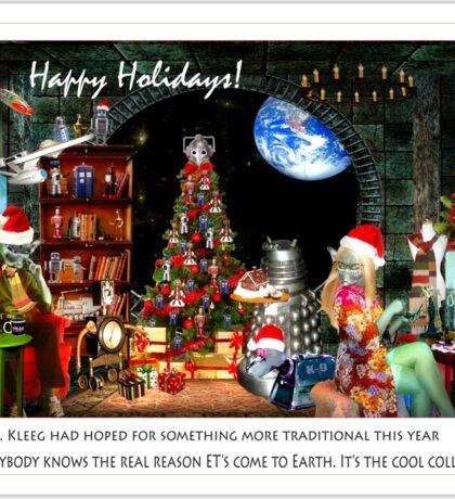 Merry Sci Fi Christmas! Sticker