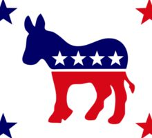Democratic Murican Patriot Flag Series Sticker