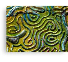 Abstract Photograph From Print Block 1 - Original Colour Canvas Print