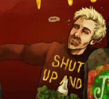 Happy Ugly Sweater Days! Sticker