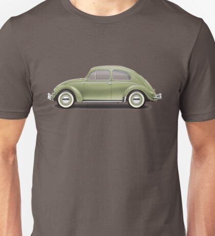 1957 Volkswagen Beetle Sedan - Diamond Green Unisex T-Shirt